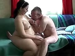 Chubby pregnant whore licked and fucked by man