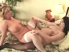 Playful preggo doll loves to taste rods