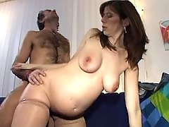 Pregnant milf fucks and gets cum