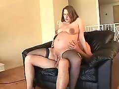 Appetizing pregnant gets stuffed